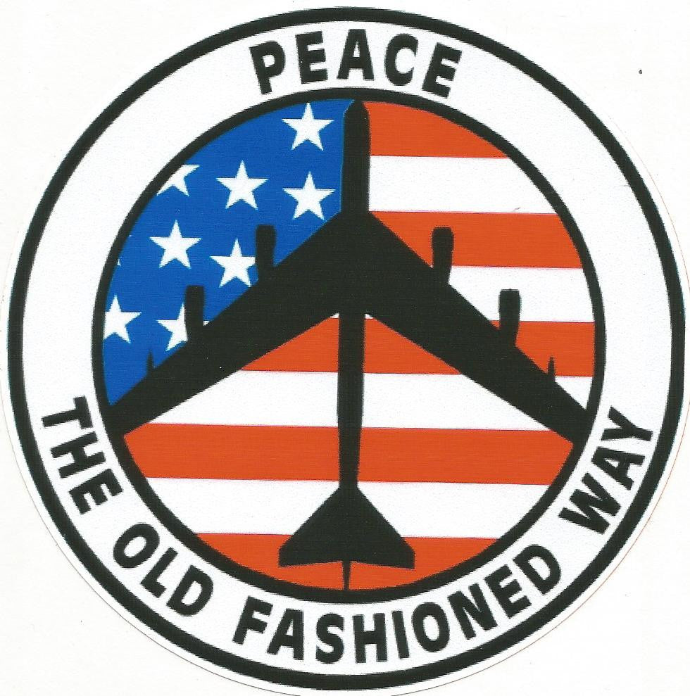 PEACE THE OLD FASHIONED WAY STICKER
