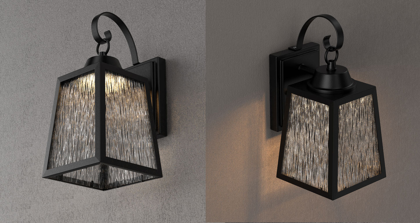Dimmable outdoor LED wall lantern