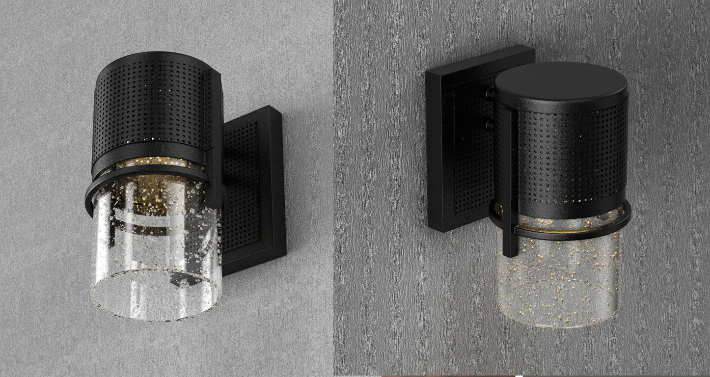 cylindrical outdoor LED wall sconce