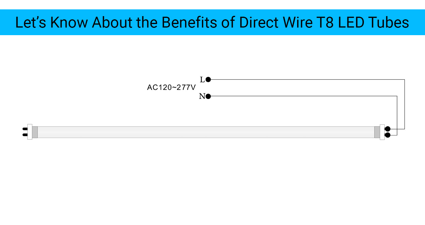 direct wire t8 led tube lights