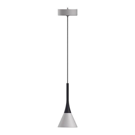 Modern Cone Pendant Lighting, 7W, 3000K, 340LM, Sand white Body Finish, Dimmable, 1-Light