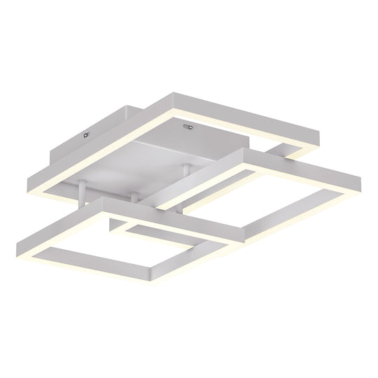 3-Lights, Geometric Modern Flush Mount Lights / Ceiling Lights, Surface Mounting, 67W, 3000K(Warm White), 4032LM,  Painted Sand white Body Finish for Living Room Show Room Office Room, Dimmable