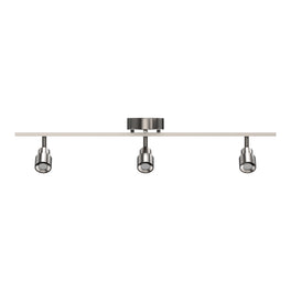 LED Dimmable Flexible Track Lighting, Brushed Nickel Finish, 3000K (Warm White), ETL Listed