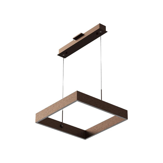 1-Light, Square Chandelier Lighting in Brushed Brown Body Finish, 70W, 3000K(warm white), 5200LM, Dimmable, 3 Years Warranty