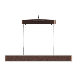 Linear LED Pendant Mount Lighting Fixture in Brushed brown Body Finish, 52W, 3000K, 2600LM, Dimmable
