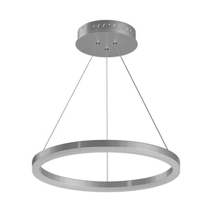 LED Ring Chandelier, 1-Ring, 38W, 3000K, 1512LM, Dimmable, Diameter 23.6''×71''
