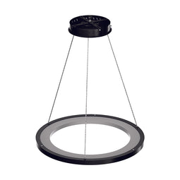 1-Ring LED Pendant Light, 35W, 3000K-6500K, 966LM, Dimmable, Matte Black Body Finish, Diameter 23.6''×71''