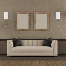 Load image into Gallery viewer, Modern LED Acrylic Sconces Wall Lighting, Brushed Nickel Finish, With LED 1W 1usb+1 Switch+1outlet