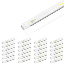 Load image into Gallery viewer, T8 4ft 22W LED Tube Light 6500K Clear 3000 Lumens Single Ended Power