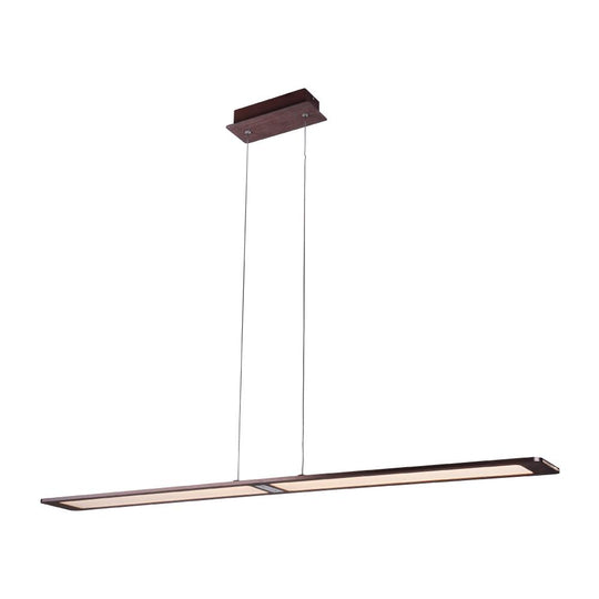 LED PMMA flat Island Pendant Light, 25W, 3000K, 1250LM, Dimmable, Kitchen or Dinning area Lights, Brushed brown Body Finish