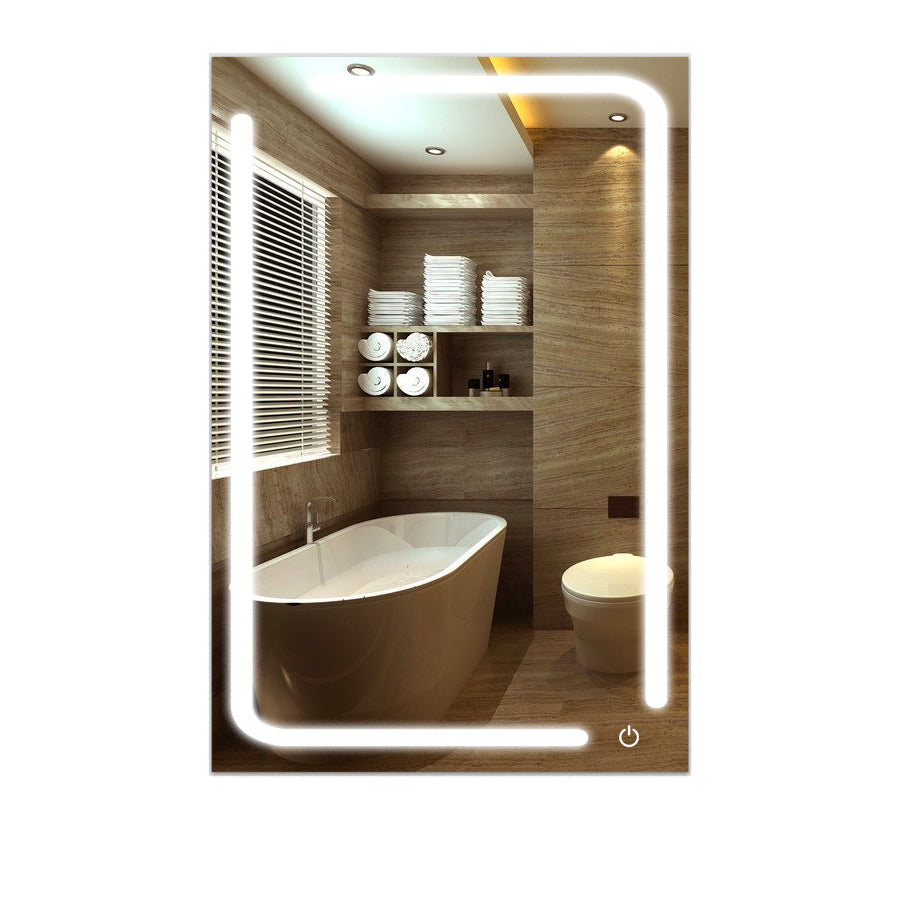 Lighted Vanity Mirror.Led Bathroom Mirror 24 X 36 Inch Lighted Vanity Mirror Includes Defogger Touch Switch Controls Led Light With On Off