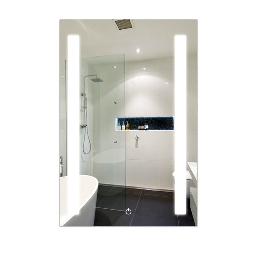 Vanity Mirror With Lights.Led Bathroom Lighted Mirror 24 X 36 Inch Lighted Vanity Mirror Includes Defogger Vertical Mirror Light