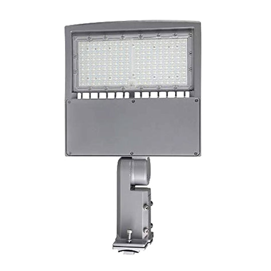 150W LED Pole Light With Photocell, 5700K, Universal Mount, Silver, AC100-277V
