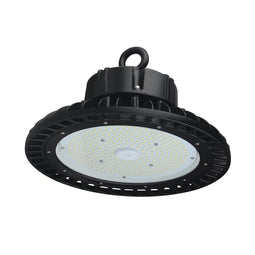 200W LED High Bay UFO 4000K - AC100-277V - DLC Premium - Black
