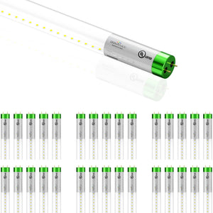 T8 4ft LED Glass Tubes ; 18W 4000K ; Single Ended Power ; Clear