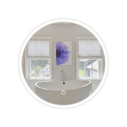 Round LED Bathroom Mirror 22 Inch Diameter - Defogger On/Off Touch Switch and CCT Changeable With Remembrance