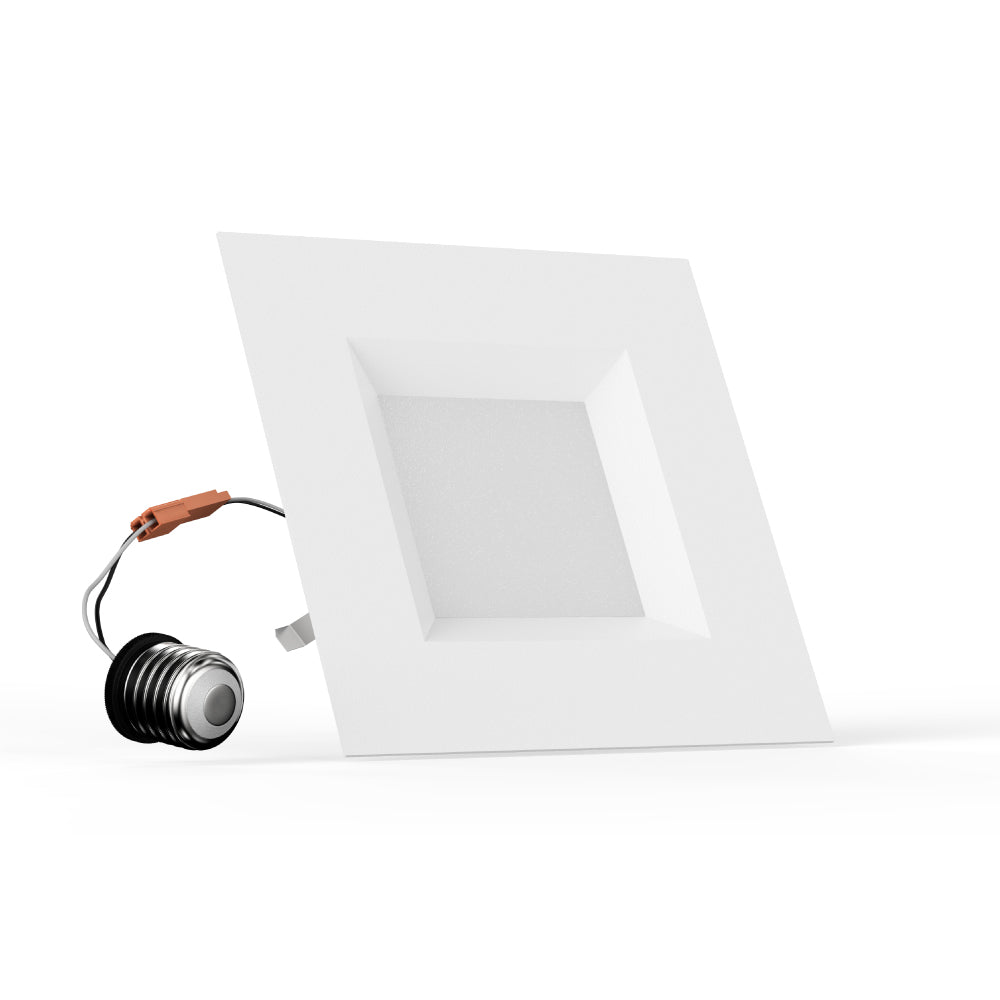 4-inch Dimmable LED Square Downlights, Recessed Ceiling Light Fixture, 9W, Kitchen Lights