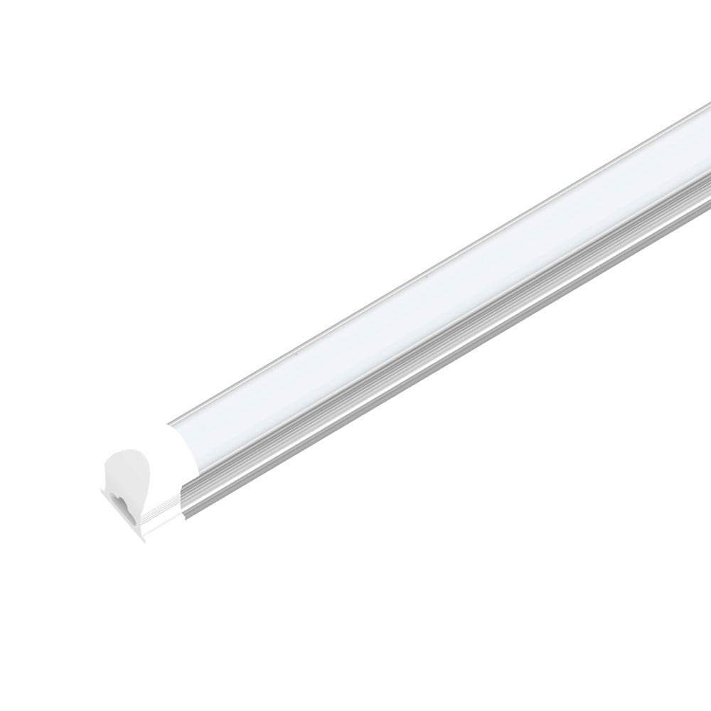 T8 8Ft LED Integrated Tube, 60W, 5000K, V Shaped, Frosted, Linkable - Extendable Design