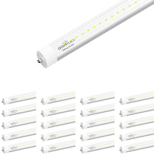 Load image into Gallery viewer, T8 8ft 40W LED Tube Light 4800 Lumens Single Pin 6500K Clear