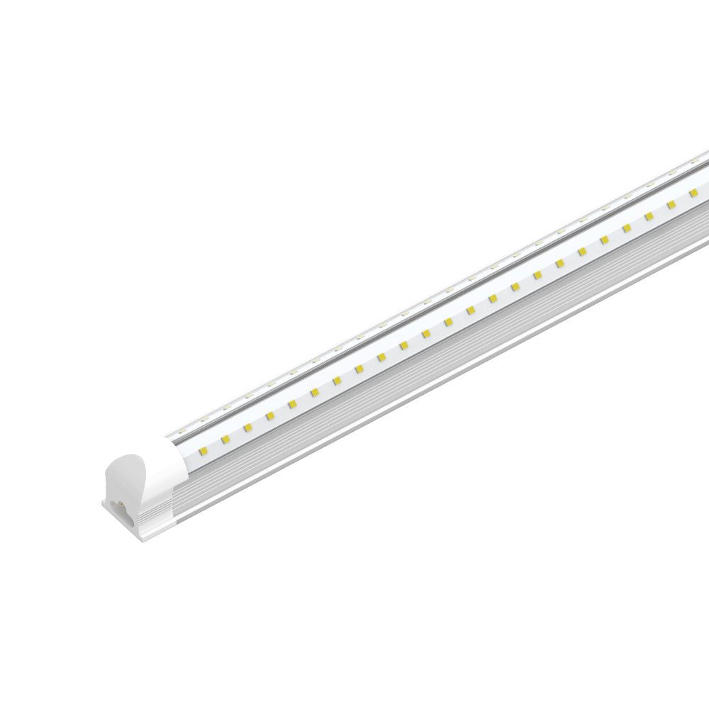 T8 4ft V Shape LED Tube 30W Integrated 6500k Clear, 4 foot LED shop lights, 4000 Lumens