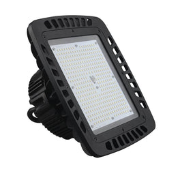 240W Square UFO LED High Bay Light - AC100-277V - 5700K - Black
