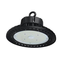 100W LED High Bay UFO 4000K ; AC100-277V ; DLC Premium ; Black