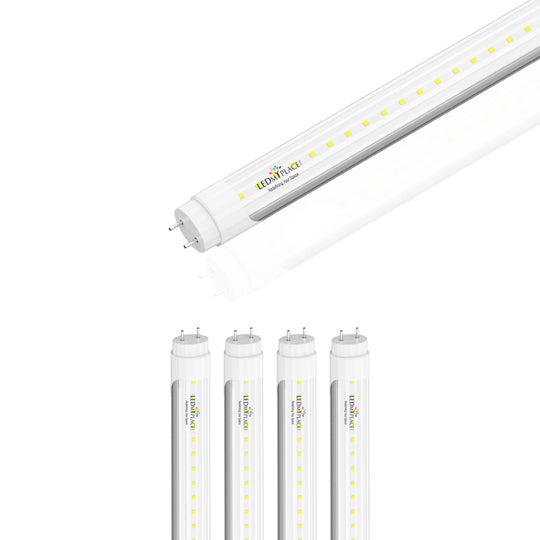 Ballast Compatible T8 4ft LED Tube Light 20W 2800 Lumens 6500K Clear (Check Compatibility List; Not Compatible with all ballasts)