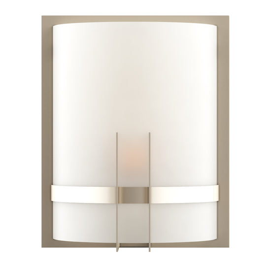 Decorative Wall Sconces Lighting,  Brushed  nickel Finish with White glass shade, Dimension: 9