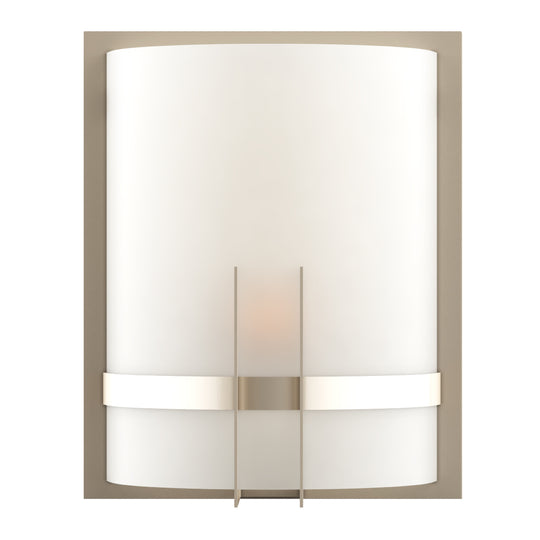 "Decorative Wall Sconces Lighting,  Brushed  nickel Finish with White glass shade, Dimension: 9"" W x 12""H x 5""E"