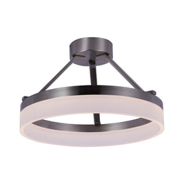 25W LED Ring Semi-Flushmount Light, 3000K (Warm White), Brushed Nickel Finish, 1450 Lumens, Triac Dimmable, ETL Listed