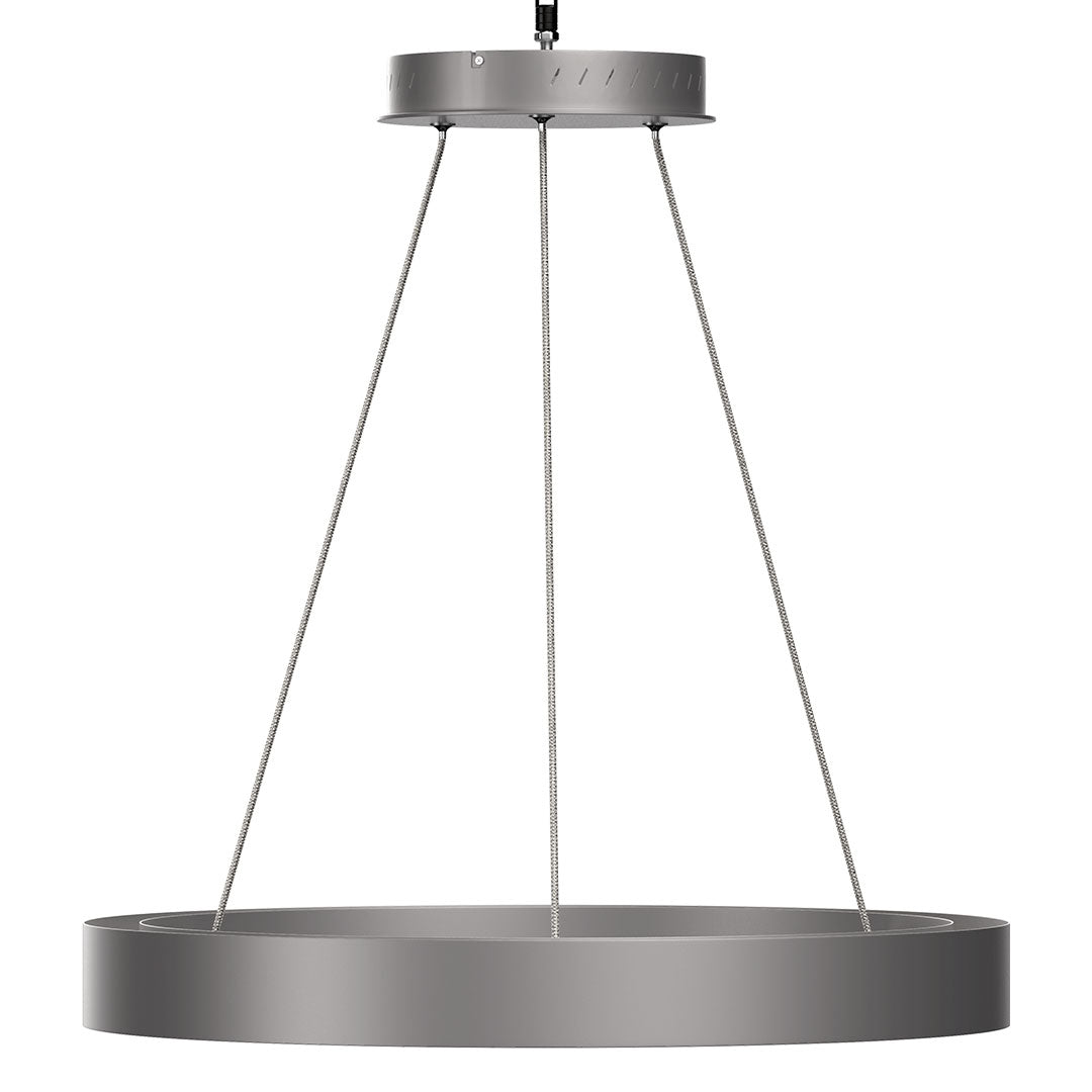 Modern Round Chandeliers with unique design Shade, 49W, 3000K, 2450LM, Dimmable, Pendant Mounting, CRI: 80+, Aluminum Body Finish