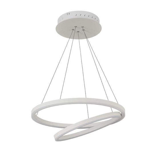 2-Ring, Circular LED Chandelier, 60W, 3000K, 2800LM, Dimmable, 3 Years Warranty