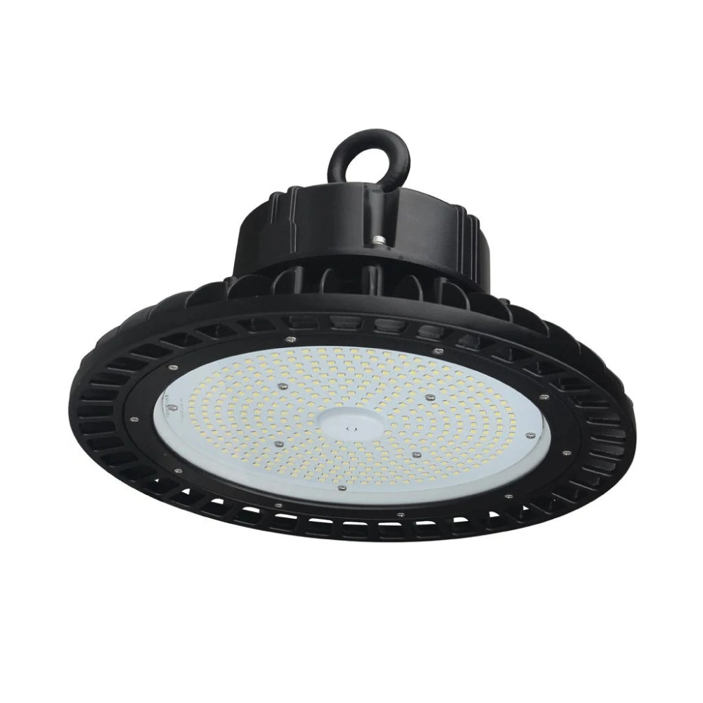 UFO LED High Bay Light 150W 5700K Daylight White, 21750lm, IP65, 1-10V Dimmable, For Factory, Workshop, Warehouse, Garage, Commercial Shop
