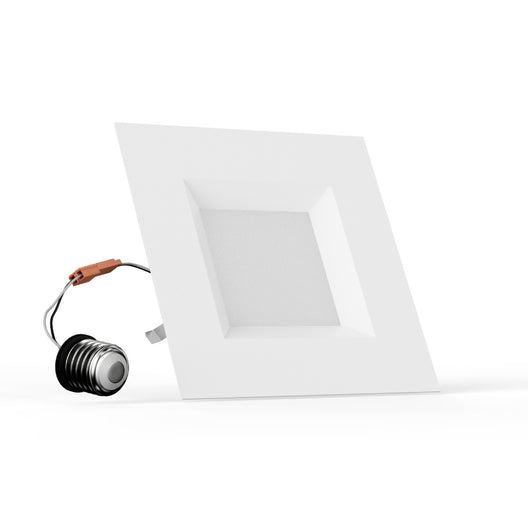 5/6-inch Dimmable LED Square Downlight, Recessed Ceiling Light Fixture, 12W, Kitchen Lights