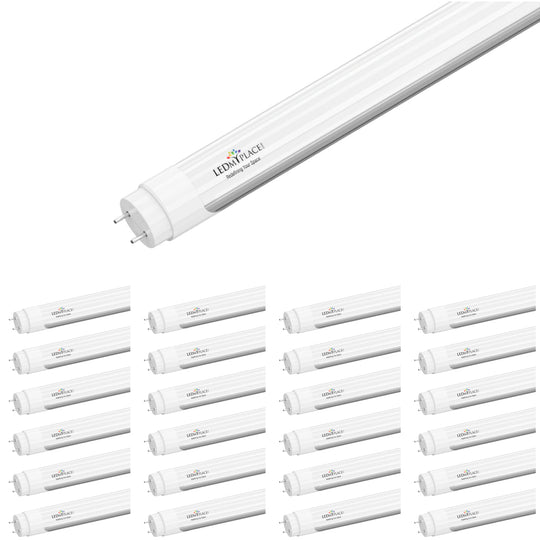 Ballast Compatible T8 4FT 20W LED Tube Light 2800 Lumens 4000K Frosted Cover (Check Compatibility List; Not Compatible with all ballasts)