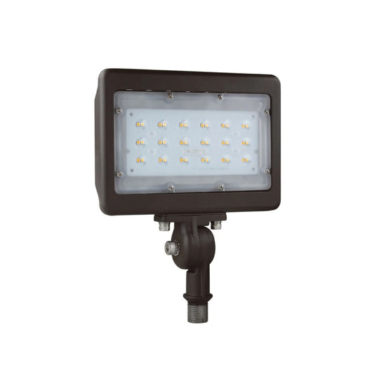 30W Knuckle Mount Outdoor LED Flood Light, 150 Watt Replacement, 5700K, Bronze, IP65 Waterproof