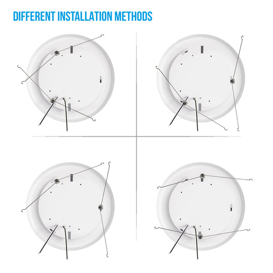 5/6-inch Dimmable LED Disk Downlights, Recessed Ceiling Light Fixture, 15W, Commercial Downlights