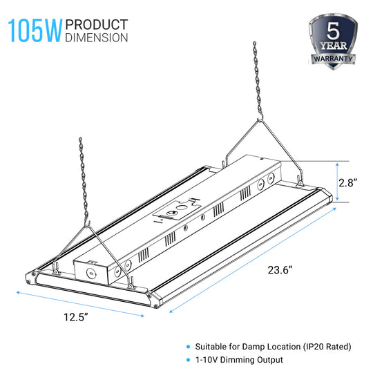 2FT LED Linear High Bay - 105W