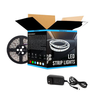 Outdoor LED Strip Lights - 12V - Flexible - IP68 - 378 Lumens/ft. with Power Supply (KIT), 5M Roll