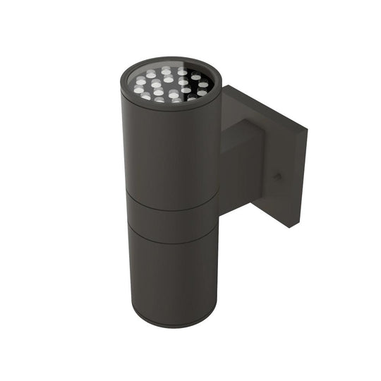 LED Up & Down Light Cylinder, 12WX2, AC100- 277V, Bronze, Double Side