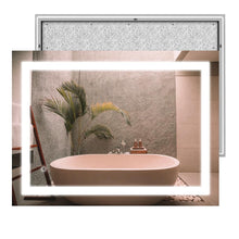Load image into Gallery viewer, Backlit/Front LED Illuminated Bathroom Mirror with Touch Switch Control, ETL Certified, Defogger, CCT Remembrance, Accord Style