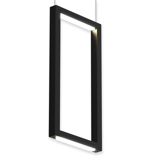 Dimmable LED Rectangle Pendant Chandelier Ceiling Light Fixture, 18W, 3000K, 900LM, For Living Room Dining Room Office Room