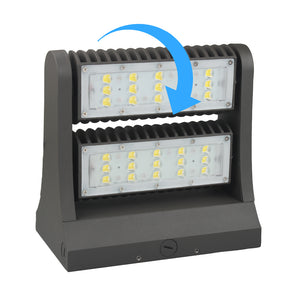 Wall pack 80w 5700K Rotatable - 10876 Lumens