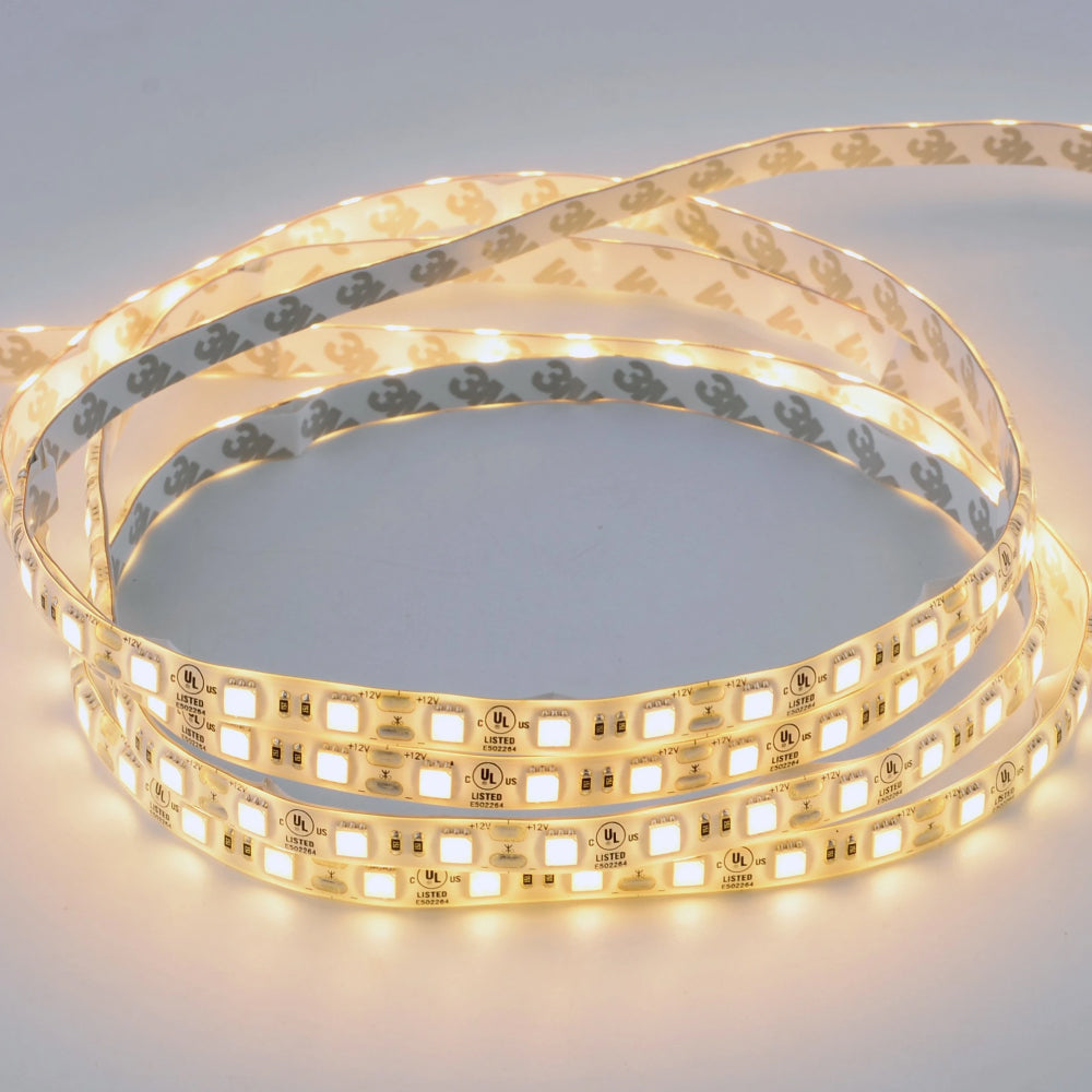 Waterproof Single-Color LED Strip Light SMD 5050, 12V, IP65, 378 Lumens/ft, Indoor/Outdoor Decoration (White)