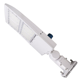 300W LED Pole Light With Photocell, 5700K, Universal Mount, White, AC100-277V, Outdoor Area Lighting - Parking Lot Lights