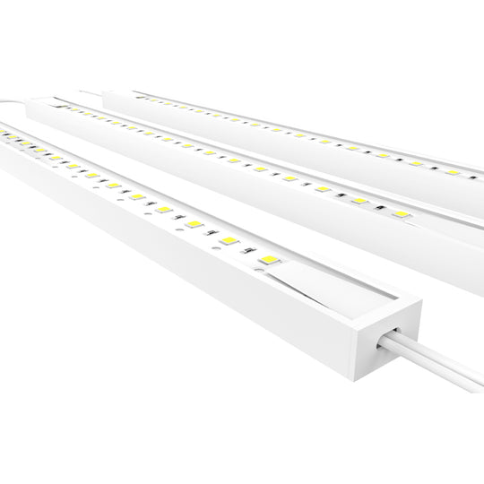 Under Cabinet Linkable Light Bar, Hardwired/Direct Plug-In, 12 Inch, 3-Piece Kit, 3x3.6 Watt, White, 330 Lumens