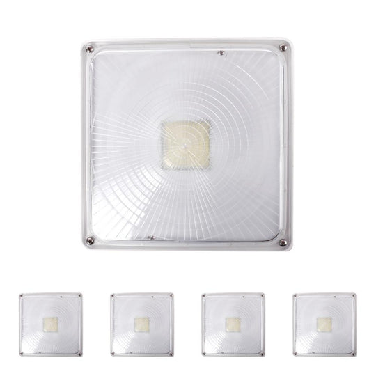 LED Dimmable Canopy Light, 45W 120-277V AC, 5700K White, DLC Listed Waterproof