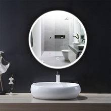 Load image into Gallery viewer, round led bathroom mirror