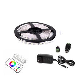 Outdoor LED Light Strips with RGB - LED Tape Light with IP65 and 63 lumens per foot with Power Supply and Controller (KIT)