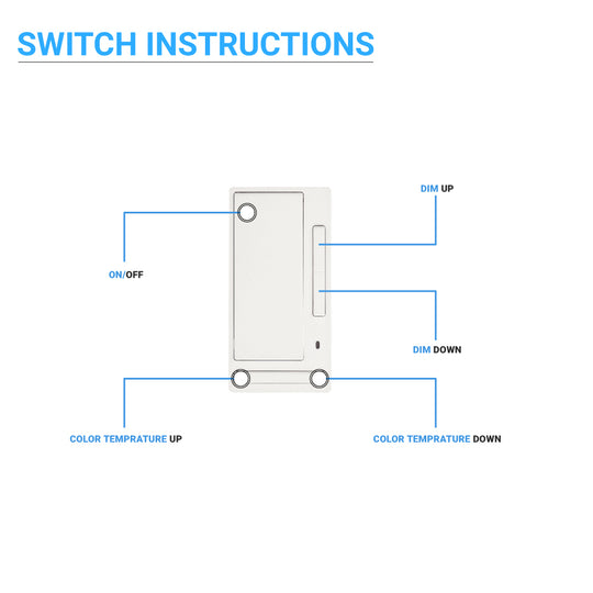 Wireless dimmer Manually Turn on/off and Dim Command